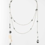 Long draping necklace